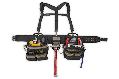 Custom LeatherCraft 6714 31 Pocket, Heavy Duty Framers 5-Piece Comfortlift Combo Tool Belt System