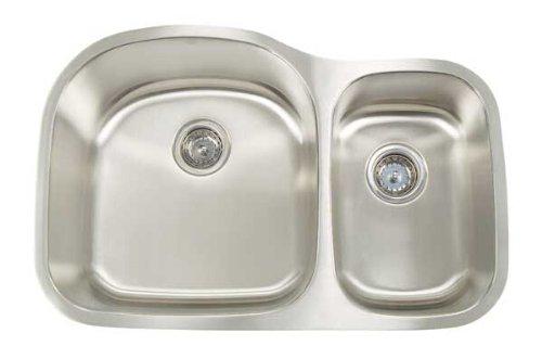 Artisan AR 3220 D97-D Premium collection 16-Gauge Undermount Double Basin Large Left Stainless Steel Kitchen Sink