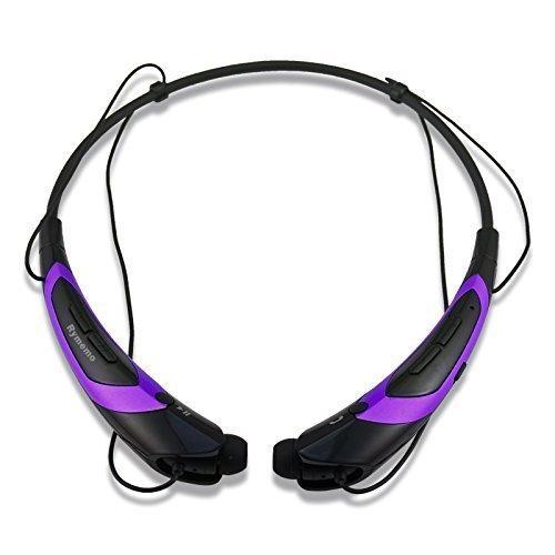 Rymemo Universal Bluetooth 4.1 Music Stereo Sports Headset Headphone for Smartphone - Purple/Black