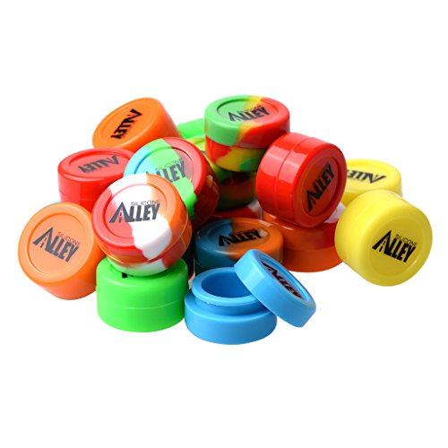 Silicone Alley, Wax Container Set, Non Stick Silicone Jars, Set of 20, Assorted Colors