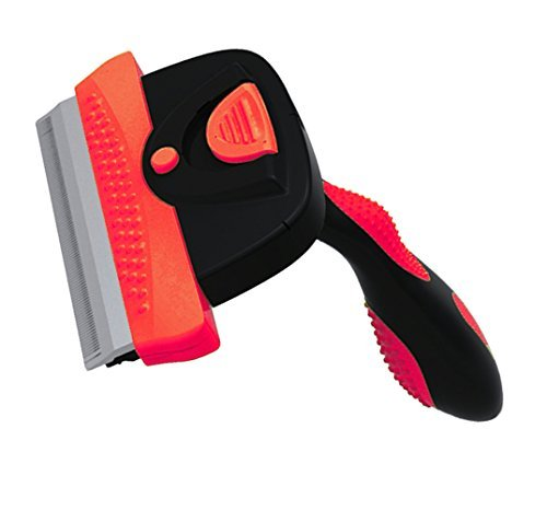 FurMaster Deshedding Brush for Small, Medium & Large Cats and Dogs with Short or Long Hair