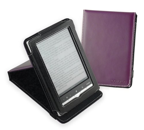 Cover-Up Sony PRS-350 Pocket Edition Inversion Stand Faux Leather Case - Purple