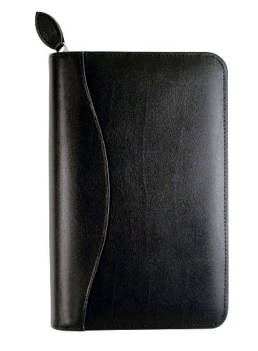 Day-Timer Recycled Bonded Leather Starter Set, 3/4 x 6 3/4, Black (D41746)