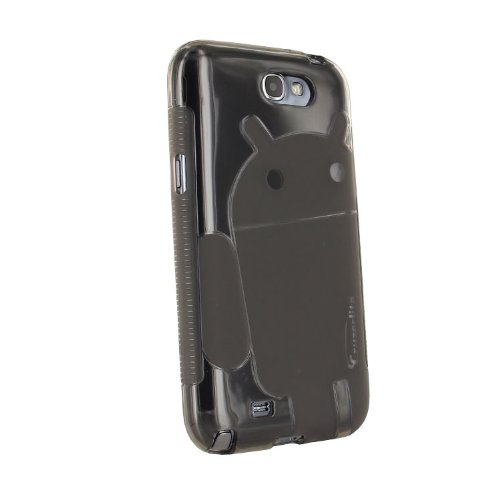 Cruzerlite Androidified A2 TPU Case for Samsung Galaxy Note 2 - Retail Packaging - Smoke