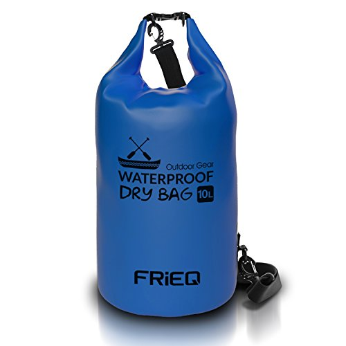 FRiEQ Lightweight & Durable Dry Bag Backpack for Outdoor Activities - Waterproof Bag Guaranteed - Perfect for Boating / Kayaking / Fishing / Rafting / Swimming / Floating / Camping - Protects Phones / Camera / Clothes / Documents from Water, Sand, Dust and Dirt