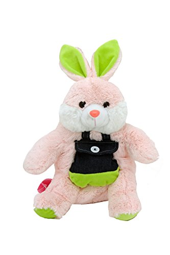 Cute Pink Bunny 19 Plush Backpack