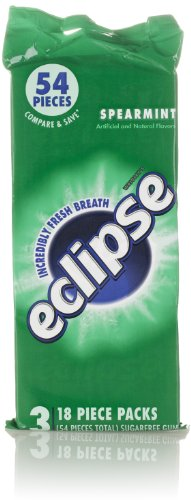 Eclipse Gum, Spearmint (3 Pack, 18 Count Each)