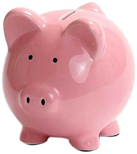 Kangaroo 1003  Ceramic Piggy Bank, 6-Inch, Pink