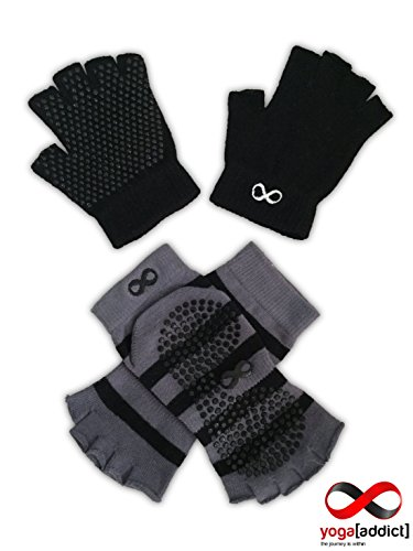YogaAddict Yoga Socks and Gloves Set, For Any Type of Yoga and Pilates