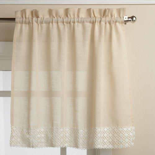 Lorraine Home Fashions Salem 60-inch x 36-inch Tier Curtain Pair, French Vanilla