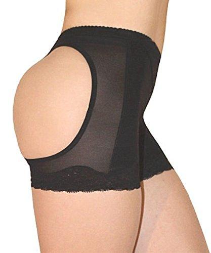 Sexy Brazilian Butt Lift Lifter Buttocks Panty Enhancer Tummy Control SIZE XXLARGE BLACK Girdle