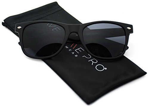 Wayfarer Matte Sunglasses Classic 80's Vintage Style Design