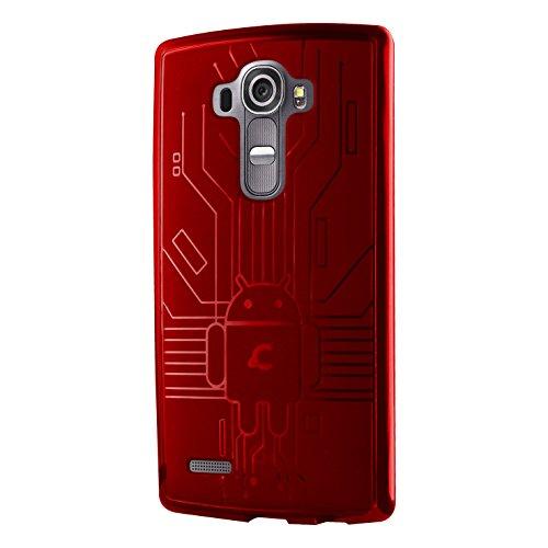 LG G4 Case, Cruzerlite Bugdroid Circuit Case for LG G4 - Retail Packaging - Red