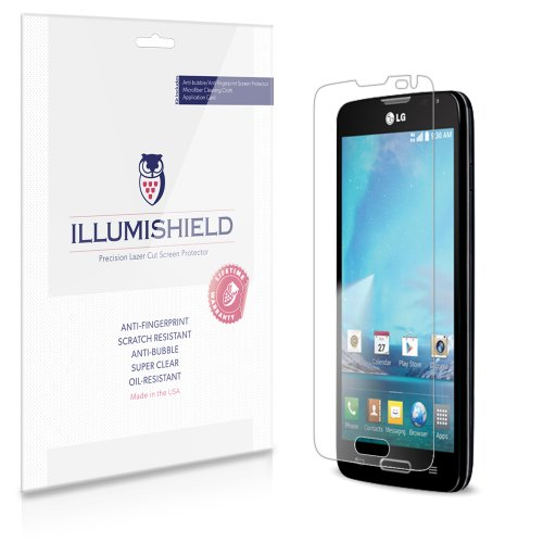 iLLumiShield - LG Optimus L90 Screen Protector Japanese Ultra Clear HD Film with Anti-Bubble and Anti-Fingerprint - High Quality (Invisible) LCD Shield - Lifetime Replacement Warranty - [3-Pack] OEM / Retail Packaging (For: T-Mobile)