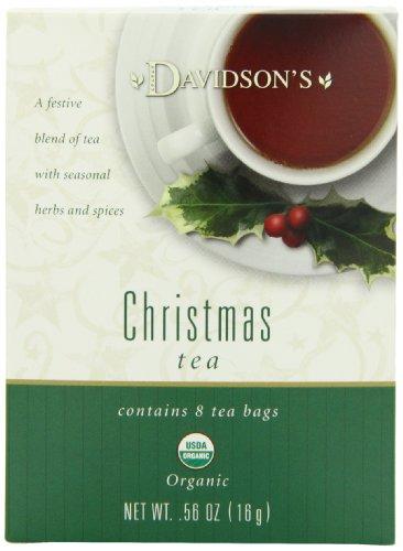 Davidson's Tea Christmas Tea, 8-Count Tea Bags (Pack of 12)