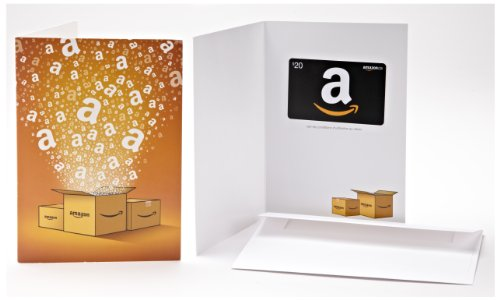 Amazon.ca $20 Gift Card in a Greeting Card (Français - Générique Design)