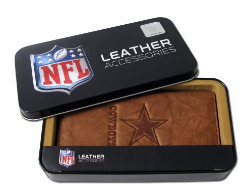 NFL Dallas Cowboys Embossed Genuine Leather Checkbook Cover