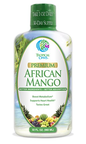 Premium African Mango - Natural Liquid African Mango Extract + CLA, Red Rice Yeast, CoQ10 & Arginine- Supports Weight Loss, Detox, & Healthy Heart Function - Non-GMO, NO Artificial Flavors - 32 Serv.