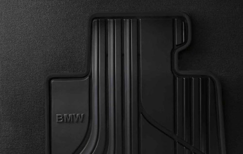 BMW Genuine All-Weather Rubber Front Car Floor Mats Black (51 47 2 339 848)