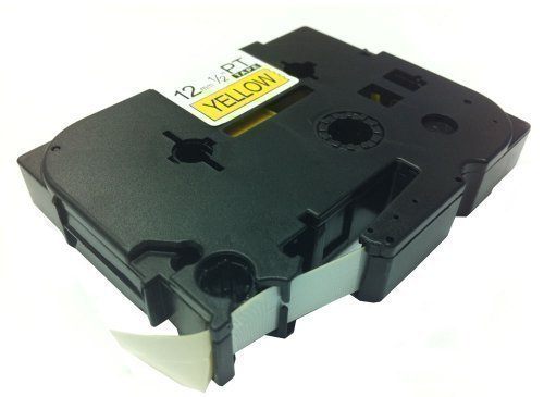 Eseller Direct - Compatible TZ631 TZe631 Label Tape 12mm Black on Yellow for Brother P-Touch Printers - 12mm wide x 8m Length