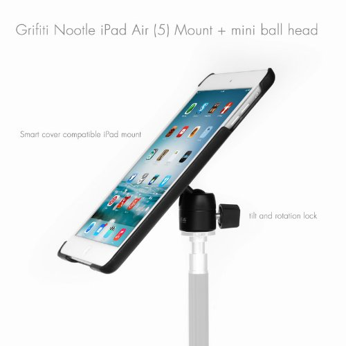 Grifiti Nootle Ipad Air 1, 2 Tripod Mount AND Mini Ball Head retrofits tripods and stand for movies, photos, displays