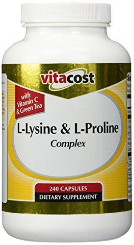 Vitacost L-Lysine & L-Proline Complex -- 240 Capsules