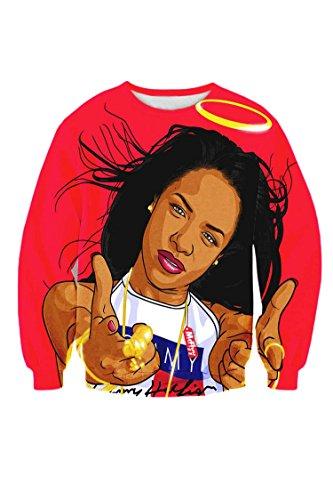 Cutiefox® All Over Digital Print Sweatshirts Pullover Crewneck Sweater