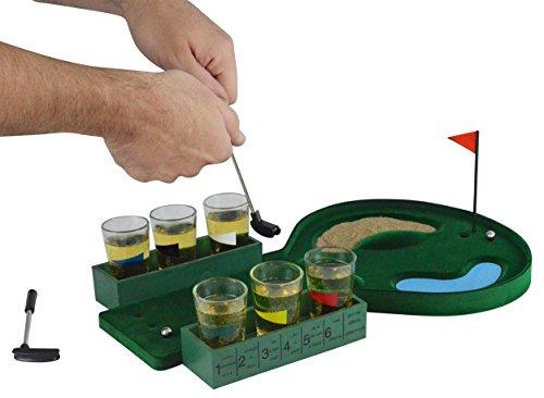 Fairly Odd Novelties Table Golf Shot Glass Drinking Game Set, Green
