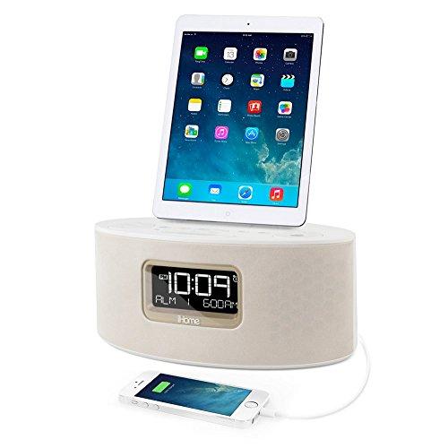 iHOME IDL46WHC Dual Charging Stereo FM Clock Radio (White)