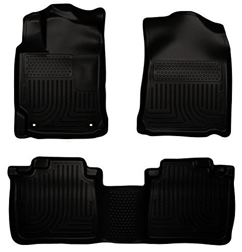 Husky Liners Custom Fit WeatherBeater Molded Front and Second Seat Floor Liner for Select Toyota Camry Models (Black)
