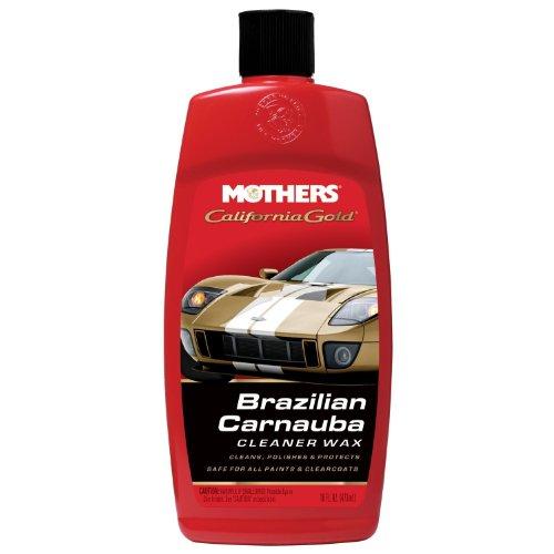 Mothers 35701 California Gold Brazilian Carnauba Cleaner Wax Liquid, 16-Ounce