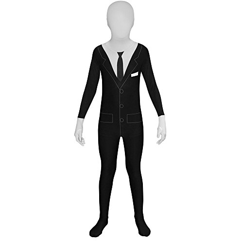 Kids Slenderman Morphsuits Childs Fancy Dress Costume Large 4'6 - 5' (135cm - 152cm)