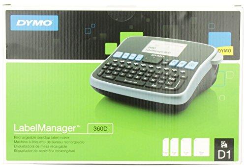 DYMO LabelManager Labeller, 360D Rechargeable Desktop Label Maker, Box of 1 (1754489)