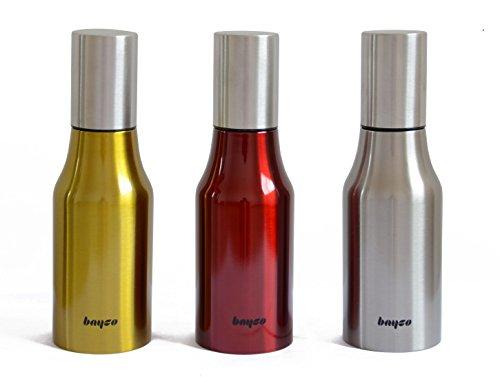 Excelity® Stainless Steel 17oz Oil & Vinegar Bottles Cruet Set with Cover, Set of 3