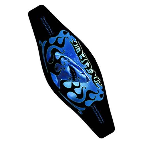 Strap Wrapper Neoprene Mask Strap Cover Blue flame shark