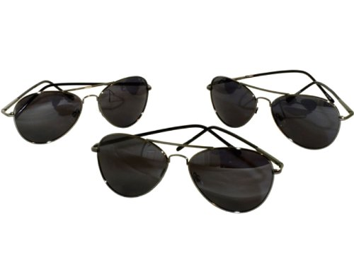 G&G 3 Pack 50 mm Polarized Aviator Sunglasses with Spring Hinges