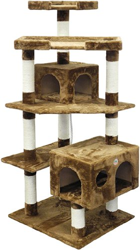 Go Pet Club F2021 Cat Tree Condo Scratcher Post Pet Bed Furniture