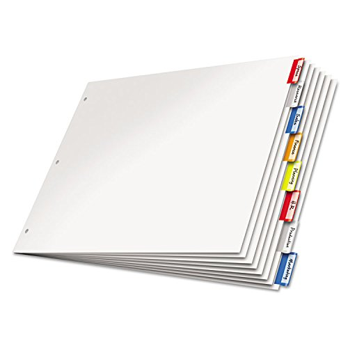 Cardinal Paper Insertable Dividers, 8-Tab, 11 x 17 Inches, Multi-Color (84816)