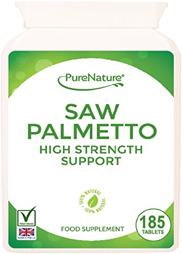 185 Saw Palmetto 3000mg High Strength Superior Grade Tablets - Full 6 Month Supply-100% Quality Assured Money Back Guarantee-FREE UK DELIVERY