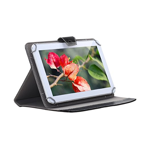 10.1 inch Tablet Protective Case,Stand Holder ,Portable Foldable and Solid Stand Case,Compatible with All Universal 10.1 inch 16:9 Tablets PC(Black)