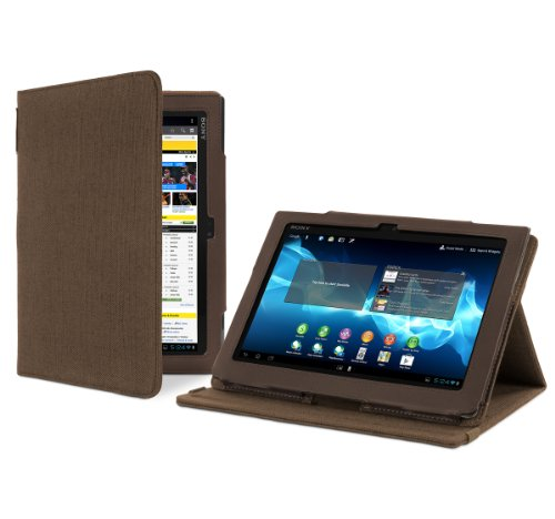 Cover-Up Sony Xperia Tablet S (9.4-Inch) Version Stand Natural Hemp Cover Case - (Cocoa Brown)