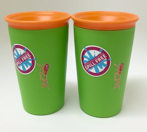 As Seen on TV Wow Cup, Spill-Proof Cup (Green), 2 Count