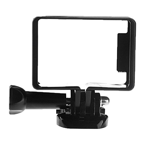 niceEshop(TM) Plastic Standard Frame Mount Protect Shell with Base Mount for Gopro 3 3+ 4 Camera (Black)