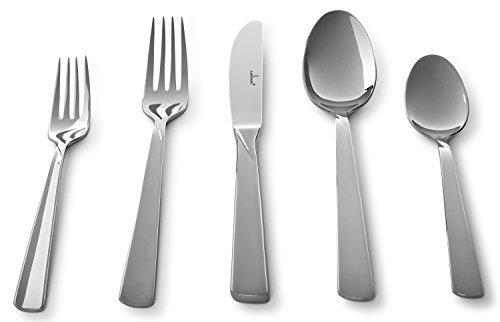 Culina Verano 20 Pcs Flatware for 4 18/10 Stainless Steel Silverware , Mirror Finish