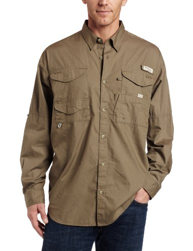 Columbia Men's Bonehead Long Sleeve Shirt, Sage, Large