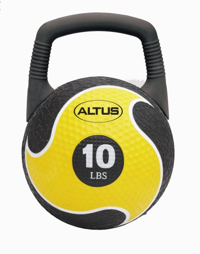 Altus Athletic 10-Pound 2-in-1 Power Medicine Ball and Kettlebell with DVD