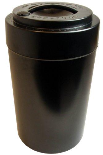 Tightvac EverythingVac Bulk Dry Goods Storage Container, 5 Pounds Plus, Solid Black Body/Cap