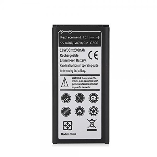 Mbuynow 2300mAh Replacement Li-ion Battery for Samsung Galaxy S5 Mini G870 SM-G800