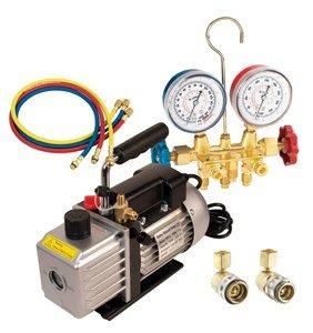 FJC 9281 Vacuum Pump & R134a Manifold Gauge Set (9281)