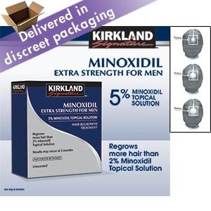Kirkland Signature Hair Regrowth Treatment Extra Strength for Men 5% Minoxidil Topical Solution